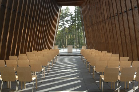 SANA chair in Royal Hotel Yatsugatake Chapel, Hokuto Japan