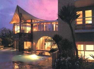 twilight in villa