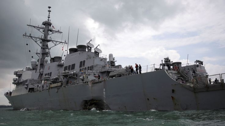 A number of bodies have been found in a compartment of the USS John S McCain following a collision with an oil tanker, the Commander of the US Pacific Fleet has confirmed.   Admiral Scott Swift said divers found the remains of some Navy sailors inside the ship after the accident which left 10... - #Col, #John, #McCain, #Navy, #News, #Remains, #Sailors, #USS