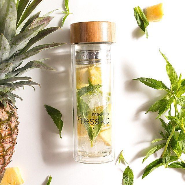 This stylish, chemical-free, double glassed Fressko Flasks...Head over to www.theorganicproject.com.au to check them out!  #water #coffee #tea #waterbottle #bottle #natural #fruitwater