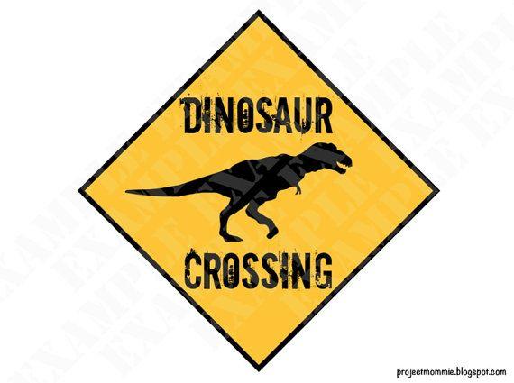 PDF: Dinosaur Crossing Sign Themed Dinosaur by luminousmoon