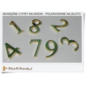 Mosiężna cyfra na dom, drzwi, pomnik lub nagrobek Polski producent - Rękodzieło handmade