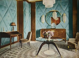 Interior design and furniture by Emile Jacques Ruhlmann, the High Priest of Art Deco.
