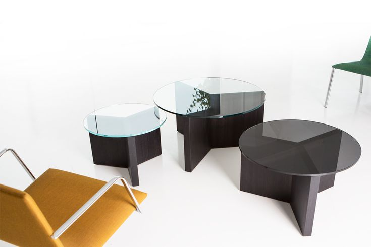 The Christian Woo Cluster Tables can be doubled, tripled, or clustered for a modular effect.