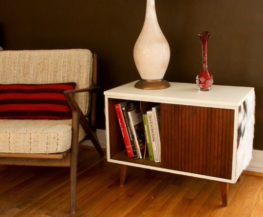 How To Deck Out an Old Record Cabinet