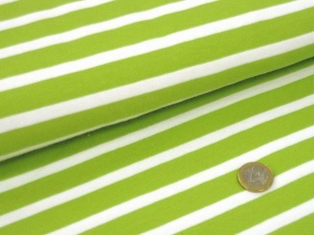 Hilco Campanello Streifenjersey breit C 3095/120 maigrün-weiß