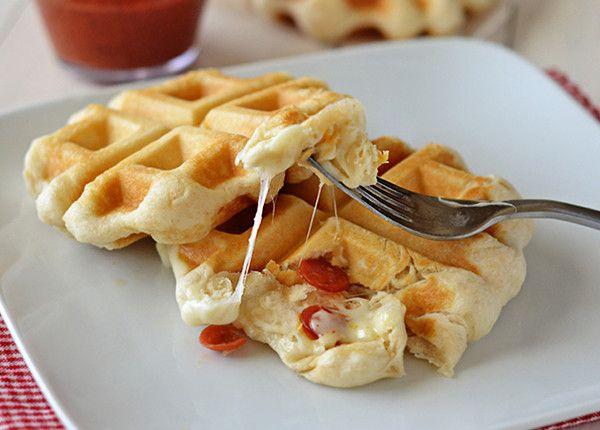 Easy Pizza Pocket Waffle