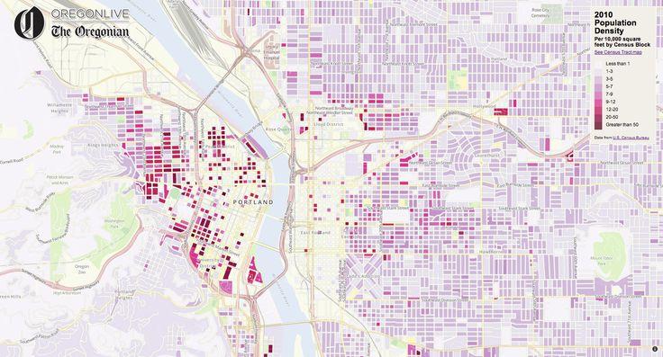 interactive map portland area density