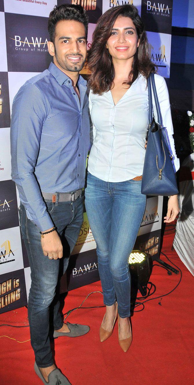 Upen Patel and Karishma Tanna at screening of 'Singh is Bliing'. #Bollywood #Fashion #Style #Hot #Punjabi