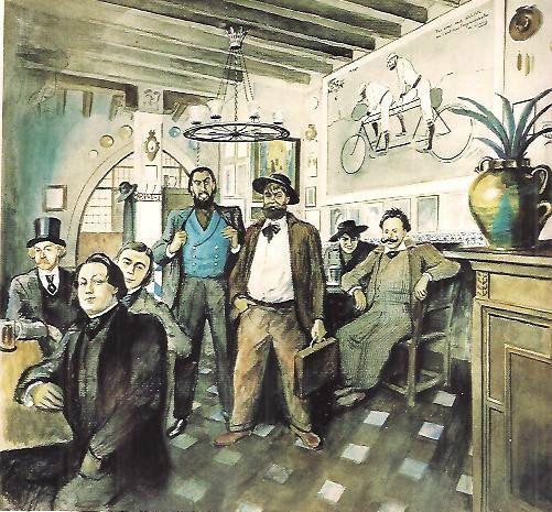 els 4 Gats. Casas, Romeu, Rusiñol y Utrillo