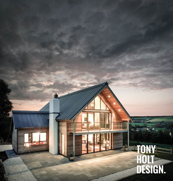 Tony Holt Design : Self build completed project. Dairy Farm Lodge new build dwelling in modern rural style