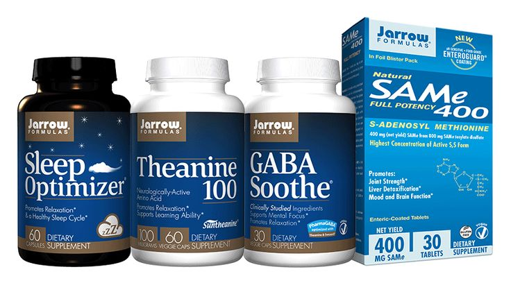 Stress and Mood Bundle, Featuring, Sleep Optimizer® - Theanine- GABA Soothe® - SAMe, (Free Ship)