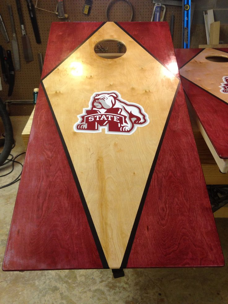 Mississippi State Bulldogs Cornhole Board Cornhole