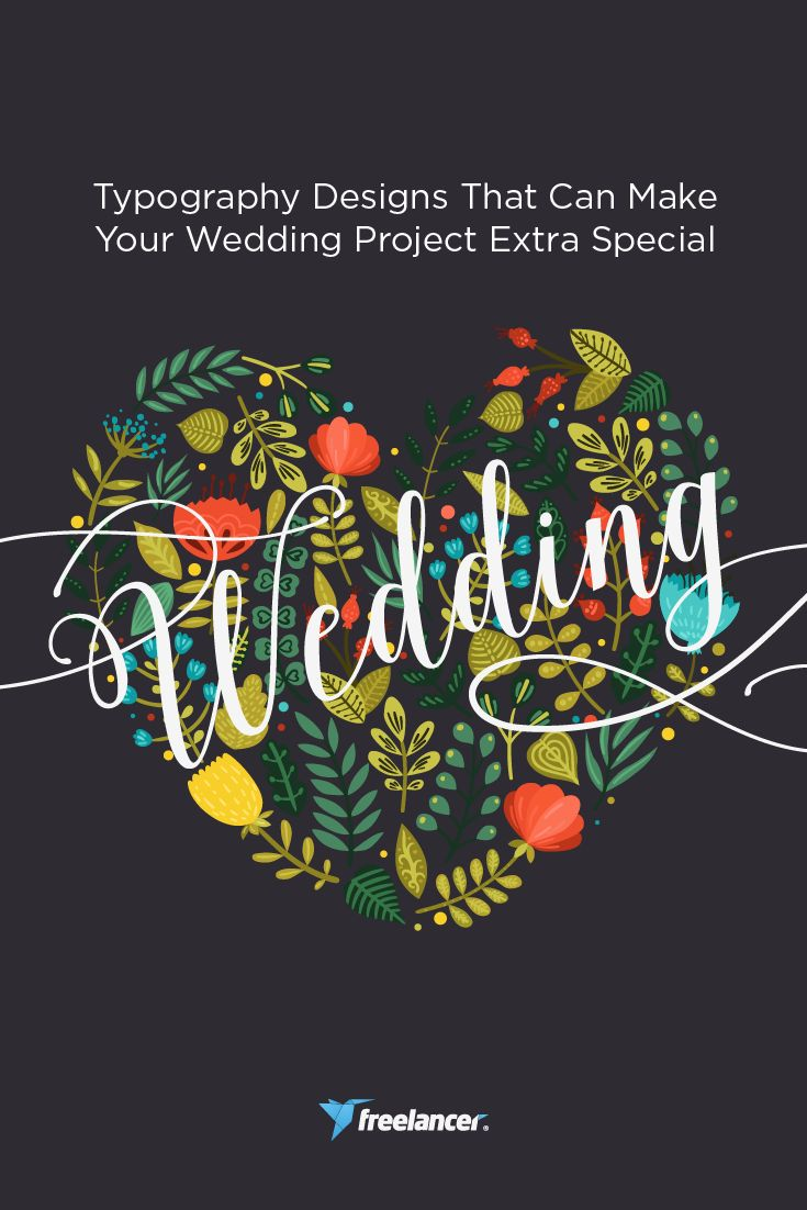 Typography Designs That Can Make Your Wedding Project Extra Special  #wedding #weddings #weddingthemes #typography #freelancer #freelancing