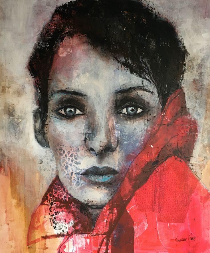 """Kunstner Benedikte Marie. Værk """"Looking at Fall"""" 100x120"""