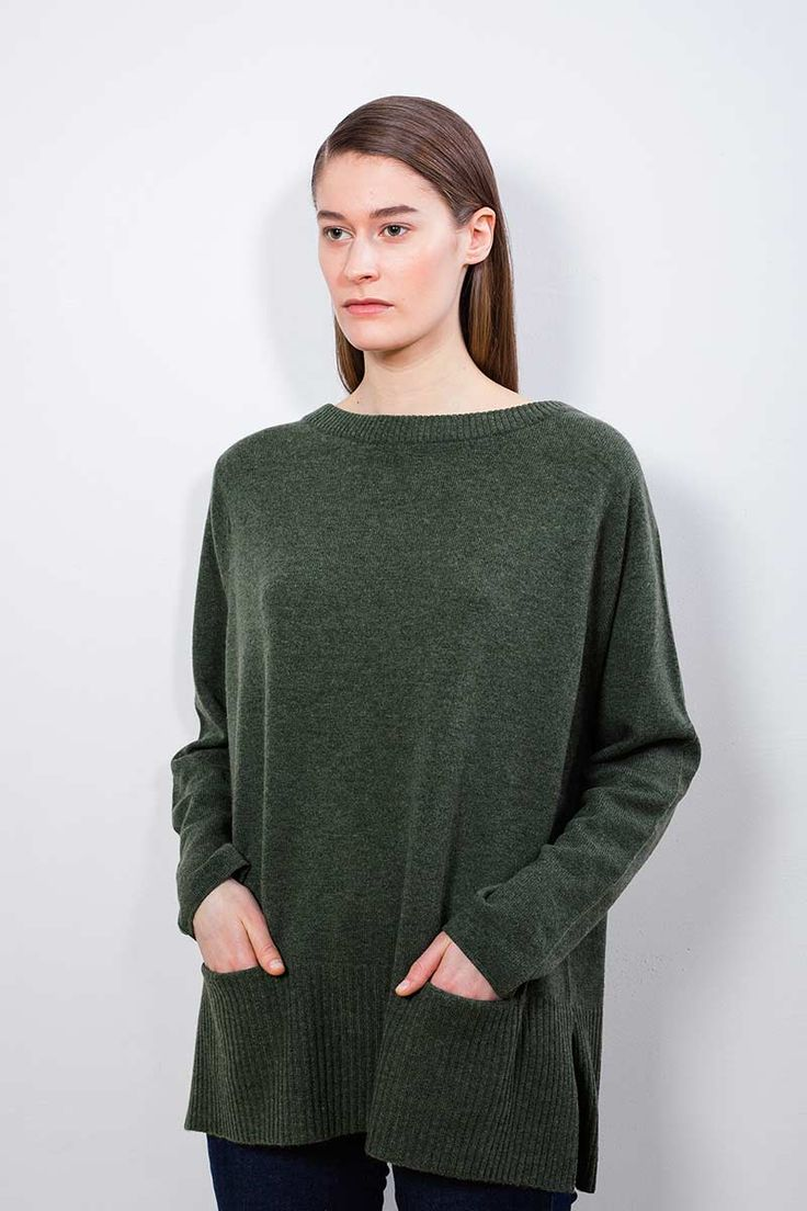"Arela AW14 collection ""Clement Days"". Elsie cashmere sweater in Ashford green."
