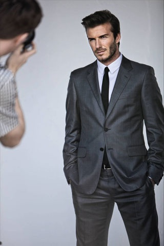 David Beckham...could have pinned his underwear shots but this is smoldering