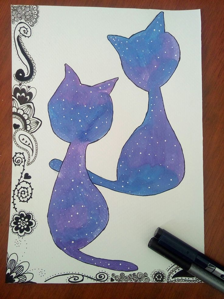Gaticos y zentangle