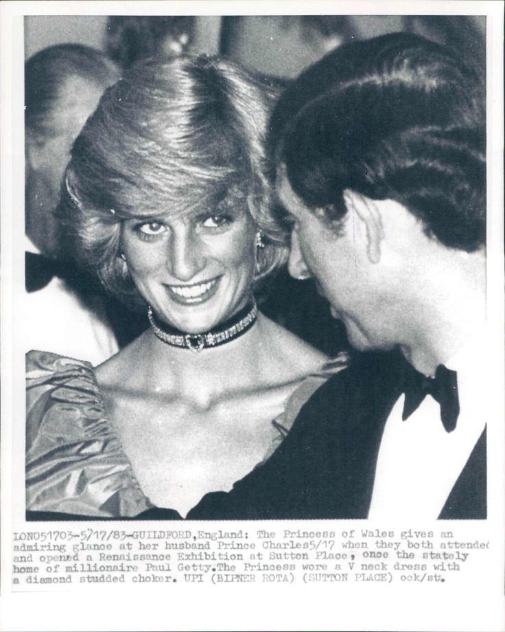 '83 Diana Princess of Wales Admiring Glance to Husband Prince Charles News Photo | eBay