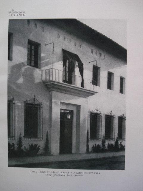 Daily News Building , Santa Barbara, CA, 1924, George Washington Smith