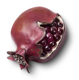 Pomegranate, part of the Nature's Jewels collection by Hemmerle. Rubellites, diamonds, copper, silver & gold.