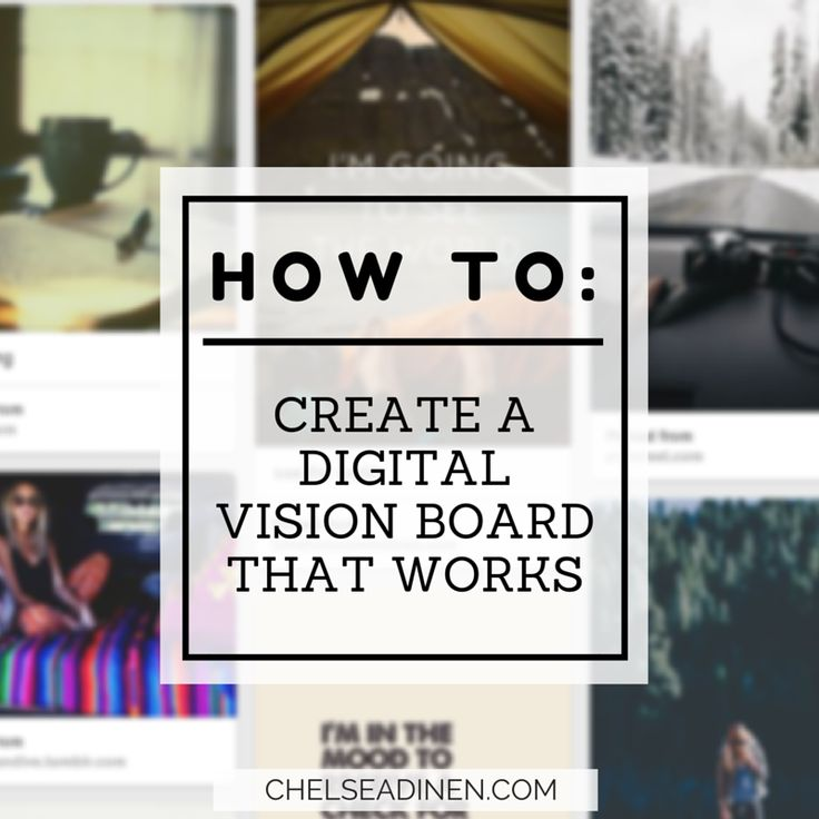 How to create a digital vision board that works | via ChelseaDinen.com #manifesting #lawofattraction