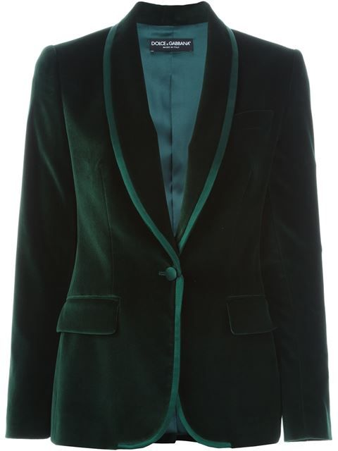Shop Dolce & Gabbana velvet blazer in Biedermann En Vogue from the world's best independent boutiques at farfetch.com. Shop 300 boutiques at one address.