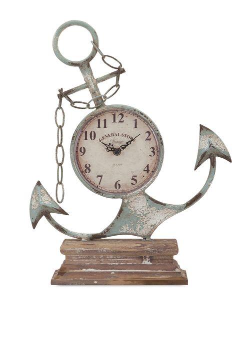 """Anchor Clock 17.75""""""""h x 14""""""""w x 4.5"""""""""""