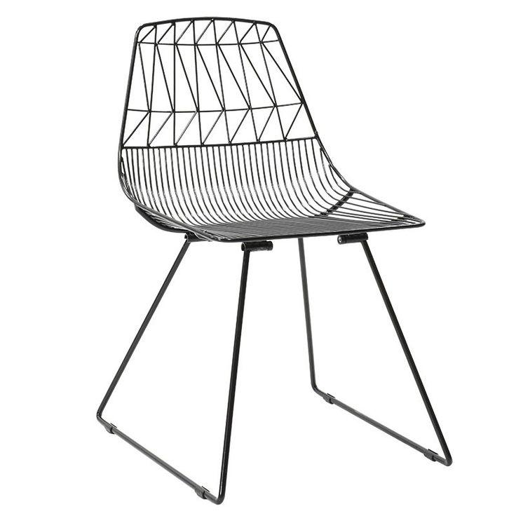 Metal chair Morena balck