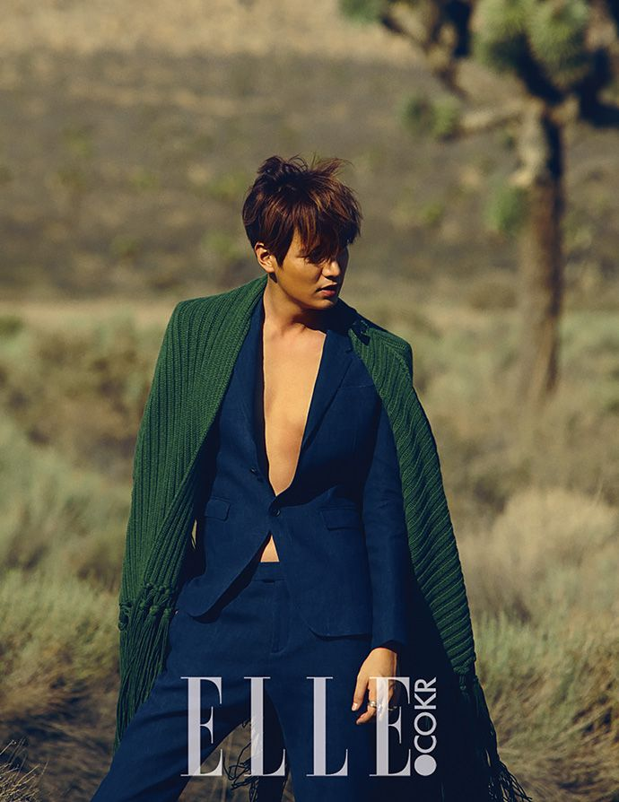 More Of Cover Boy Lee Min Ho For Elle Korea's September 2015 Issue | Couch Kimchi Awesome suit color. Burberry.