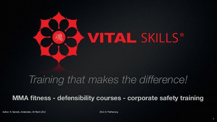 Vital skills the ultimate health training concept in fitnessland! by Ron Nansink via slideshare