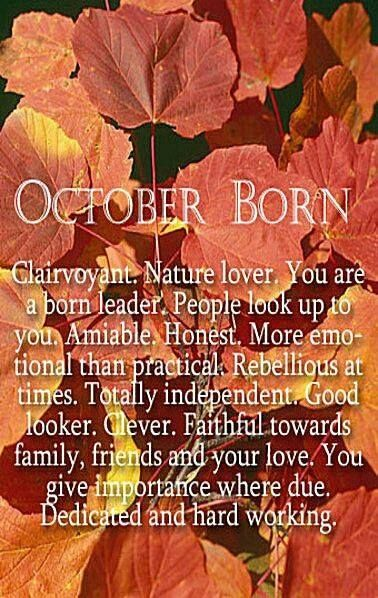October Born Autumn Leaves Fall List Character Birthday