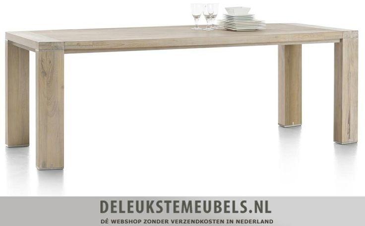 Deze Buckley eetkamertafel van het merk Henders & Hazel is een topper! Deze tafel is heeft een afmeting van 190x100cm. De kleine metaalaccenten op de poten maken deze tafel net even iets anders. Bovendien is deze tafel door de strakke vormgeving en lichte kleur in vele interieurs te combineren!  http://www.deleukstemeubels.nl/nl/buckley-eettafel-190cm/g6/p50/