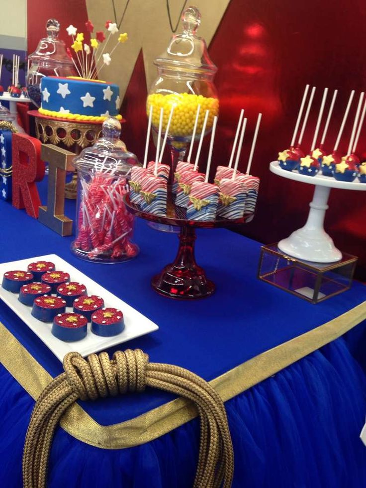 Wonder Woman Birthday Party Ideas | Photo 1 of 9