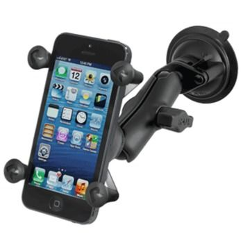RAM Mount Twist Lock Suction Cup Mount w/Universal X-Grip Cell Phone Holder