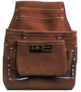 10 Pocket Suede LEather Carpenters Tool Pouch $10.00