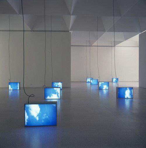 Promised Land by Information Fiction Publicité, 1992 Set of 10 aluminum light boxes, fluorescent tubes, duratrans, methacrylate - 72 × 96 × 18cm each