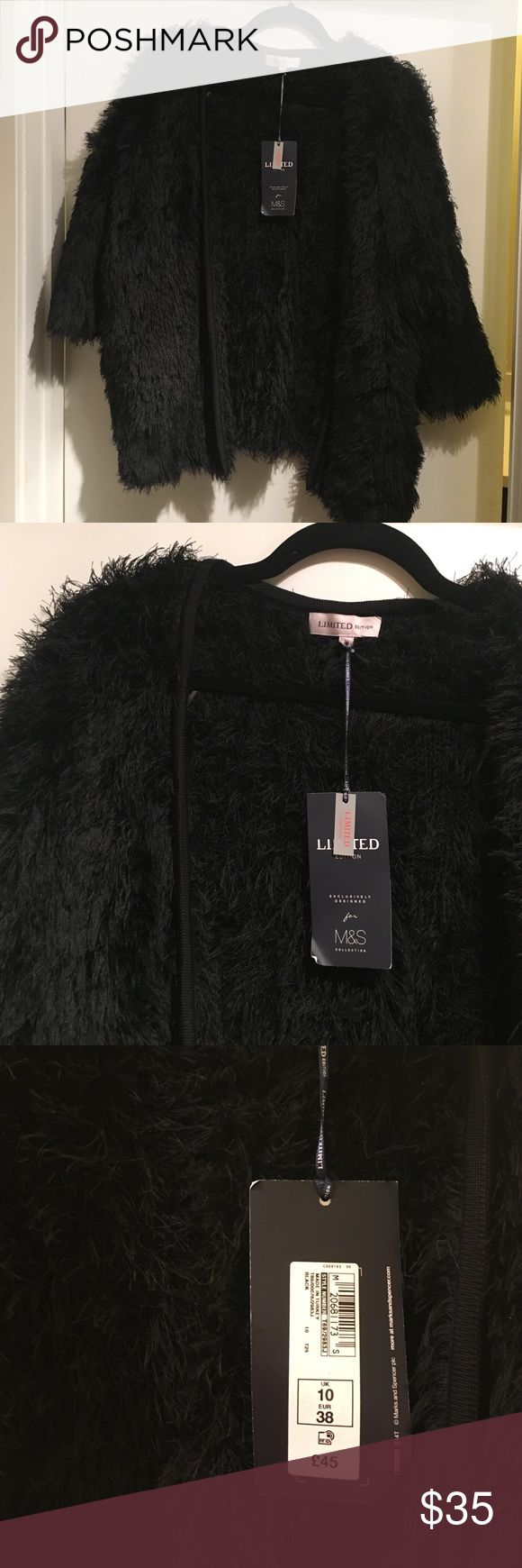 Marks & Spencer NWT Black Jacket Stunning Marks & Spencer jacket. New with tags! Size 38/10 UK/8 women's US Marks and Spencer Jackets & Coats