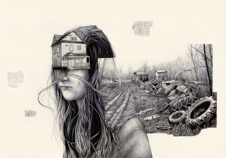 Remarkably Detailed Sketches Portraying Memories as Tangible Items Living in a Person's Head
