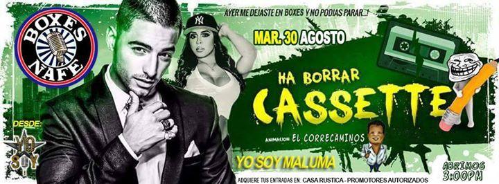 Yo Soy Maluma En Concierto - En Discoteca Boxes Borro Cassette - Primera Matine