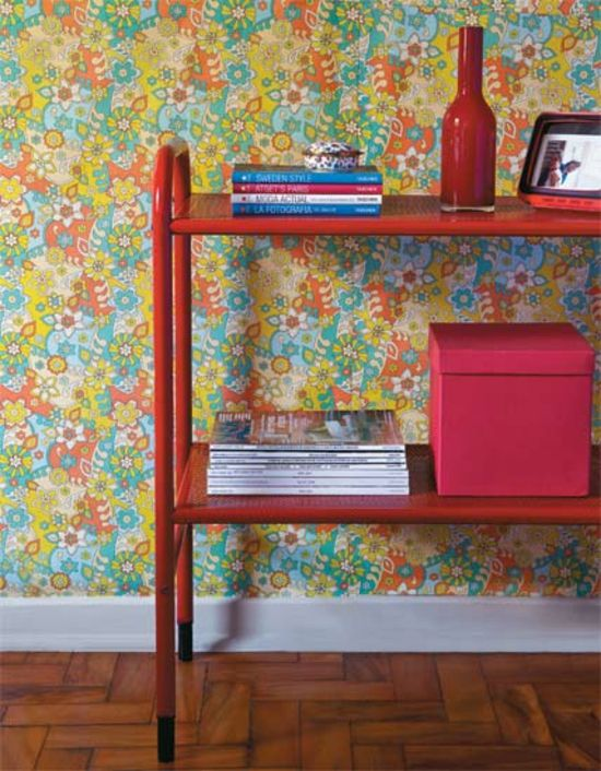 living ideas cool wall design wallpaper pattern multicolored floral pattern red regal