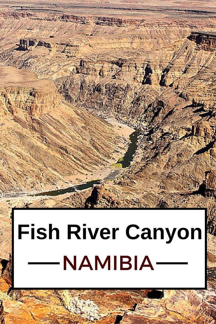 Almost as impressive as the grand canyon but without any tourist! - click to see more photos of the Fish River Canyon in Namibia