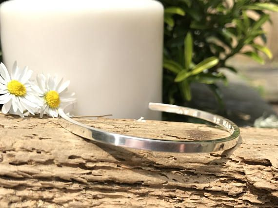 Silver Bride Personalised Bangle, Jewellery For Bride, Wedding Date Present , Bride Wedding Bangle, Bride Wedding Day Gift, Hand Made Custom