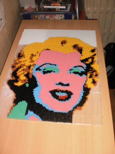Marilyn Monroe hama beads portait by creations-differente
