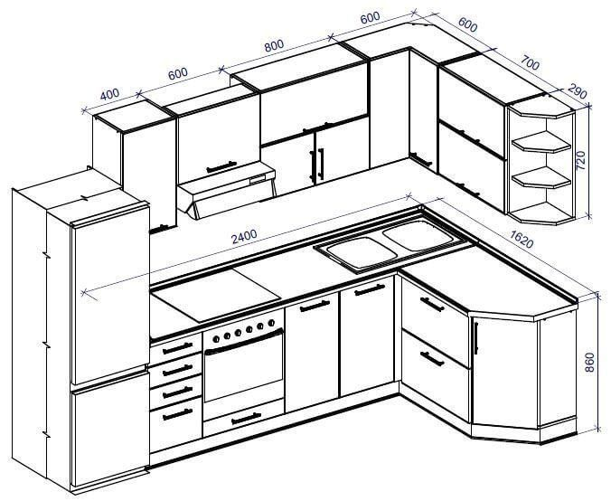 standard kitchen dimensions and layout  kitchen layout