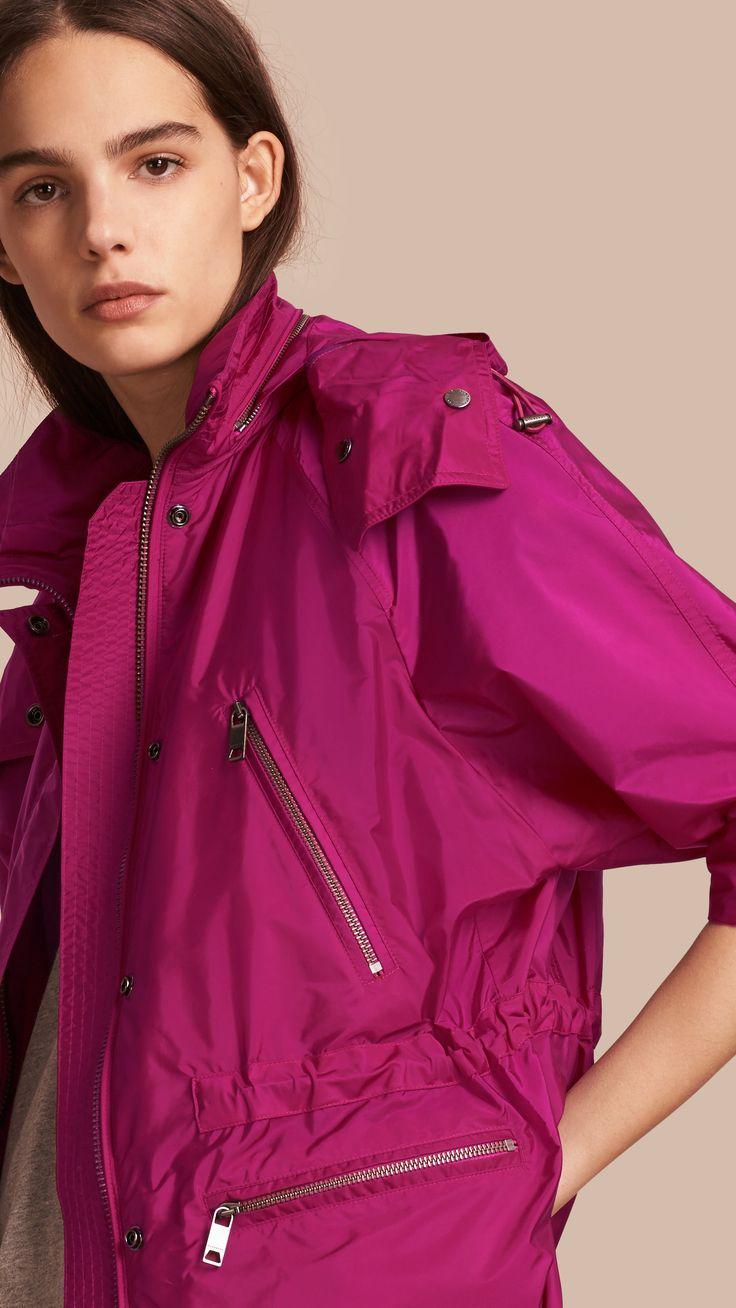 Parka impermeable con capucha plegable Fucsia | Burberry