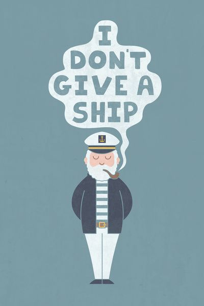 That's because I don't have a ship!  Lol!   Indifferent Captain Art Print by Teo Zirinis