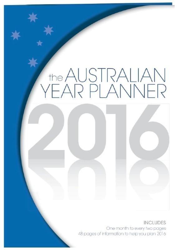 Australian Year Planner 2016