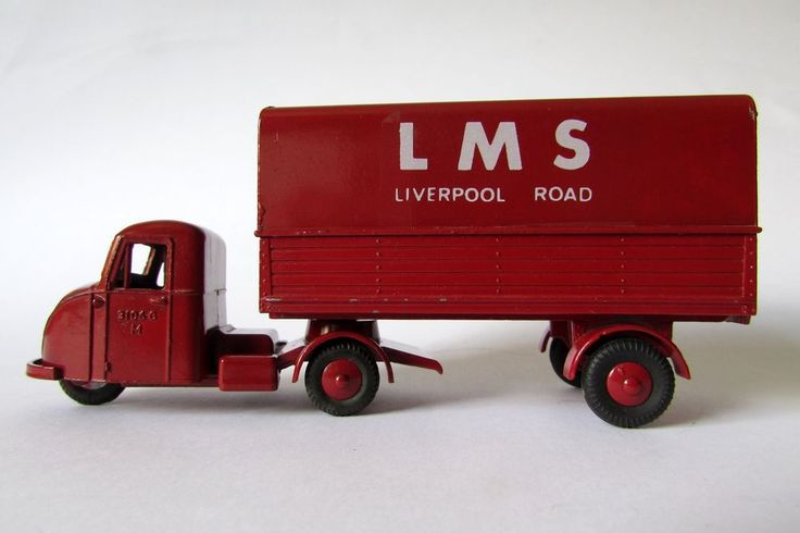 Budgie Toys Scammell Scarab & Semi-Trailer in maroon LMS Liverpool Road livery