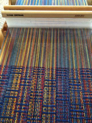 2 rigid heddle Summer and Winter detail by njpeckmc